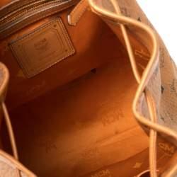 حقيبة ظهر إم سي إم  براندنبورغ متوسطة برباط جلد وكانفاس مقوى فيستوس كونياك