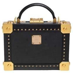 حقيبة بوكس بيرلين إم سي إم كانفاس مقوى فيستوس وجلد سوداء