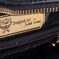 MCM Black Leather Vintage Charms Crossbody Bag