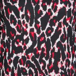 McQ by Alexander McQueen Red and Black Leopard Print Sleeveless Dress XL