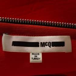 McQ by Alexander McQueen Orange Knit A Line Dress S