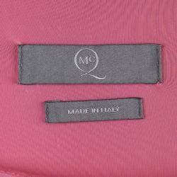 McQ By Alexander McQueen Pink Knit Draped Sleeveless Dress XS
