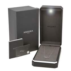 Messika Baby Move Pavé Diamond 18K White Gold Necklace