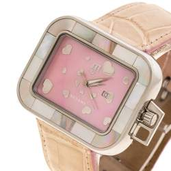 Meyers Pink Mother of Pearl Stainless Steel Women's Wristwatch 42MM