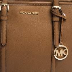 Michael Kors Tan Leather Small Jet Set Travel Tote