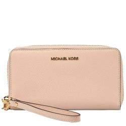 """Michael Kors Light Pink Leather """"Jet Set"""" Wallet"""