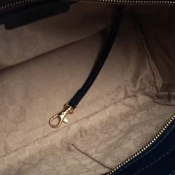 Michael Michael Kors Navy Blue Leather Medium Selma Satchel