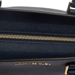 Michael Michael Kors Navy Blue Leather Medium Selma Satchel
