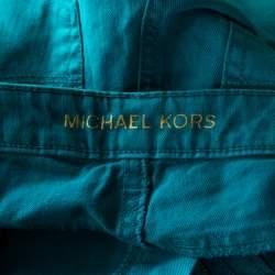 Michael Kors Turquoise Blue Denim Studded Pocket Detail Skinny Jeans S