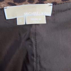 Michael Kors Brown Leopard Print Skirt S