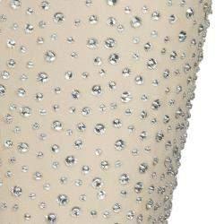 Michael Kors Beige Swarovski Embellished Pants S