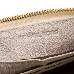 Michael Kors Off White Leather Jet Set Continental Wallet
