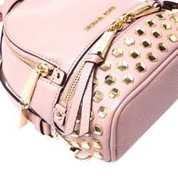 Michael Kors Beige Leather Mini Studded Rhea Backpack