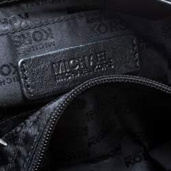 MICHAEL Michael Kors Black Leopard Print Calfhair and Leather Buckle Flap Shoulder Bag