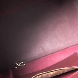Michael Kors Burgundy Leather Jet Set Tote