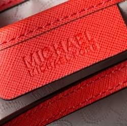 MICHAEL Michael Kors Orange/Brown Leather Jet Set Travel Tote