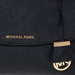 Michael Kors Black Leather Small Ava Top Handle Bag