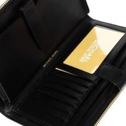 Michael Kors Black Leather Adele Studded Wrislet Wallet