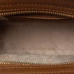 Michael Kors Brown Leather Mini Selma Crossbody Bag