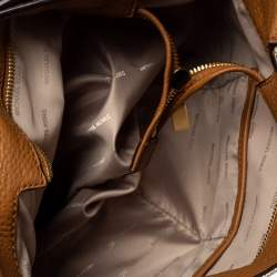 Michael Kors Brown/Beige Canvas and Leather Marlon Tote