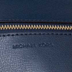 Michael Kors Navy Blue Leather Kinsley Shoulder bag