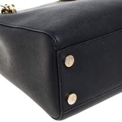 Michael Kors Black Leather Small Cynthia Tote