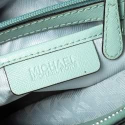 Michael Kors Mint Green Patent Leather Large Savannah Satchel