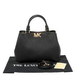 Michael Kors Black Leather Medium Florence Satchel