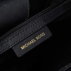Michael Kors Black Leather Front Pocket Tote
