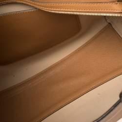 Michael Kors Tan Leather Large Walsh Top Zip Tote