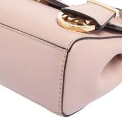 Michael Kors Pink Leather Mini Ava Top Handle Bag
