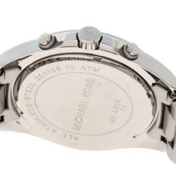 Michael Kors Silver Stainless Steel Bradshaw MK8254 Men's Wristwatch 48 MM