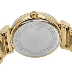 Michael Kors Black/Crystal Pave Gold Tone Stainless Steel Catlin MK3338 Women's Wristwatch 38 mm