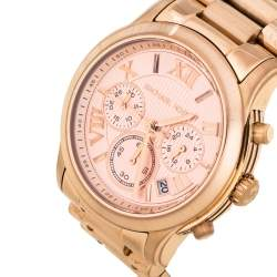 MIchael Kors Rose Gold Tone Stainless Steel Cooper MK6275 Women's Wristwatch 40 mm