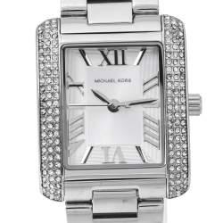 Michael Kors Silver Stainless Steel Petite Emery MK3289 Women's Wristwatch 27 mm