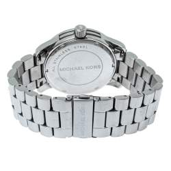 Michael Kors Silver Crystal Pave Stainless Steel Runway MK5544 Women's Wristwatch 45 mm