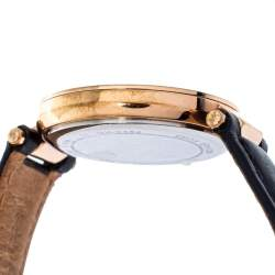 Michael Kors White Rose Gold Tone Stainless Steel Leather Mini Parker MK2462 Women's Wristwatch 33 mm