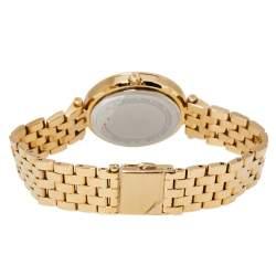 Michael Kors Yellow Gold Tone Stainless Steel Darci Pave MK3430 Women's Wristwatch 33 mm
