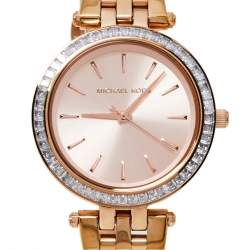 Michael Kors Rose Gold Tone Stainless Steel Mini Darci MK3366 Women's Wristwatch 33 mm