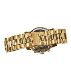 Michael Kors Yellow Gold Plated Stainless Steel Runway MK5055 Women's Wristwatch 38 mm