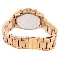 """ساعة يد نسائية مايكل كورس """"بلاير كرونوغراف إم كيه5263"""" ستانلس ستيل ذو لون ذهبي وردي 39 مم"""