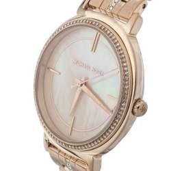 ساعة يد نسائية مايكل كورس أم كيه3643 ستانلس ستيل لون ذهب وردي صدف 33 مم