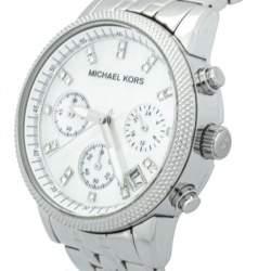 ساعة يد نسائية مايكل كورس أم كيه5020 كرونوغراف ستانلس ستيل صدف 37 مم