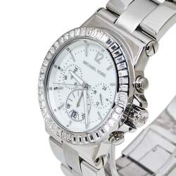 ساعة يد نسائية مايكل كورس ديلان أم كيه5411 ستانلس ستيل بيضاء 42 مم