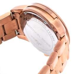 Michael Kors Rose Gold Tone Stainless Steel Mercer MK5727 Women's Wristwatch 41.5 mm
