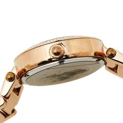 Michael Kors Plum Mother Of Pearl Rose Gold Tone Stainless Steel Mini Parker MK6403 Women's Wristwatch 33 mm