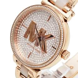 Michael Kors Rose Gold Tone Stainless Steel Sofie MK4336 Women's Wristwatch 36 mm