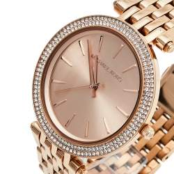 Michael Kors Rose Gold Tone Stainless Steel Darci MK3192 Women's Wristwatch 39 mm