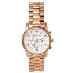 Michael Kors Silver Gold Plated Stainless Steel Limited Edition Dubai Runway MK5771 Women's Wristwatch 39 mm
