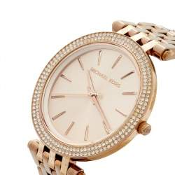 Michael Kors Champagne Rose Gold Plated Stainless Steel Darci MK3192 Women's Wristwatch 39 mm